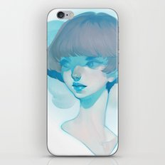visage - blue iPhone & iPod Skin