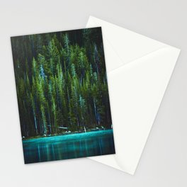 Evergreen Forest on Water (Color) Stationery Cards