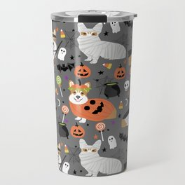 Corgi halloween costume ghost mummy vampire howl-o-ween dog gifts Travel Mug