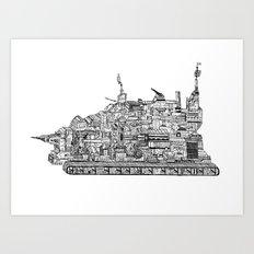 War Behemoth Art Print