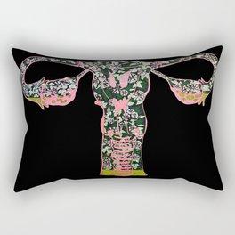 Morning Glory Terrarium Rectangular Pillow
