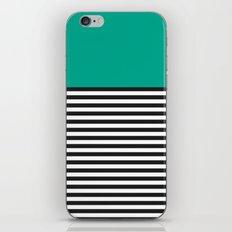 STRIPE COLORBLOCK {EMERALD GREEN} iPhone & iPod Skin