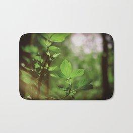 Morning Glow - Beautiful green leaves Bath Mat
