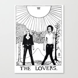 The punk lovers Canvas Print