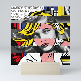 Roy Lichtenstein's M-Maybe & Lauren Bacall Mini Art Print