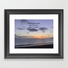 Nature Photo Free Quote Design by Kat Worth Framed Art Print