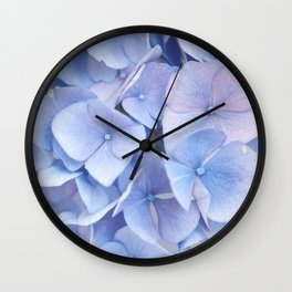 Blue Hydrangeas #3 #decor #art #society6 Wall Clock