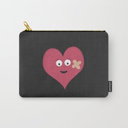 Heart face with patch Carry-All Pouch