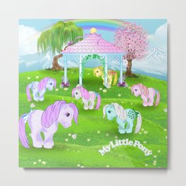 g1 my little pony stylized Collector ponies Metal Print