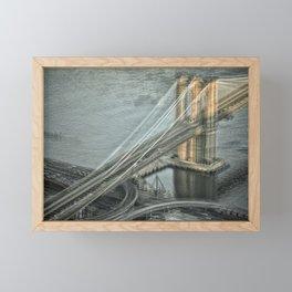 Brooklyn Bridge Manhattan Side Framed Mini Art Print