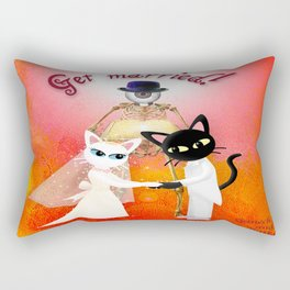Get Married !  (This a collaboration with the talented Batkei ) Rectangular Pillow