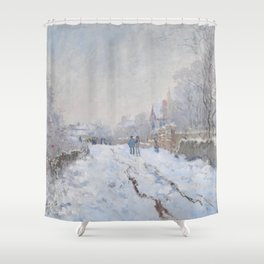 Snow Scene at Argenteuil by Claude Monet Shower Curtain