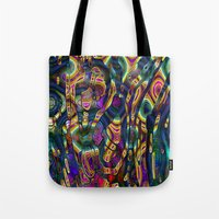 wild things Tote Bags featuring Wild Things by RingWaveArt