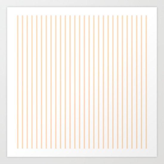 Soft Peach Pinstripe on White by honorandobey