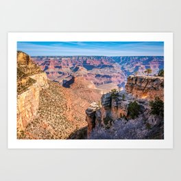 Morning at Bright Angel Trail - Grand Canyon Art Print