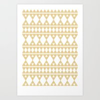 Golden Lace Art Print