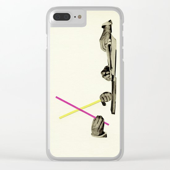 Let's Play Pick-Up Sticks Clear iPhone Case