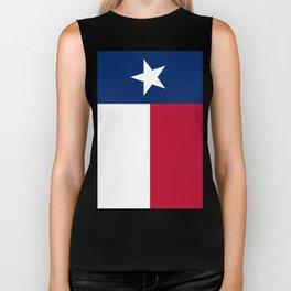 State flag of Texas, official banner orientation Biker Tank