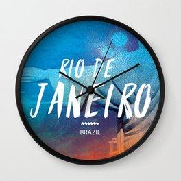Corcovado, Rio de Janeiro, Brazil, poster Wall Clock