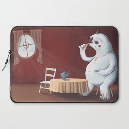 the yeti came for tea Laptop Sleeve