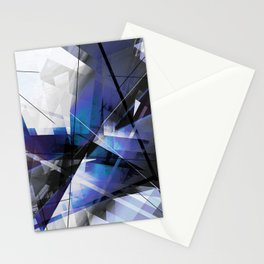 Divided by Glass - Geometic Abstract Art Stationery Cards