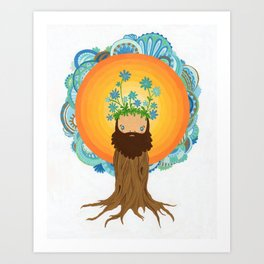 Tree Creature.  Art Print