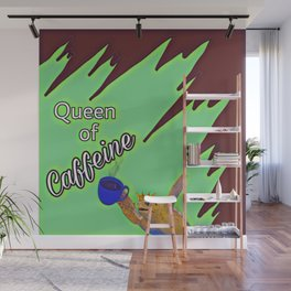 Queen of Caffeine Sea Turtle with Coffee Wall Mural