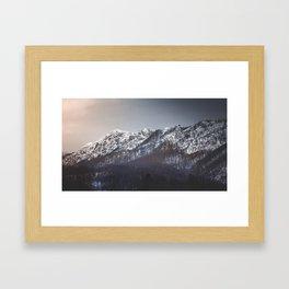 Snowy Mountain Range Framed Art Print
