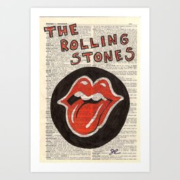 Book Page The Stones Art Print