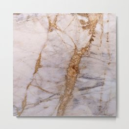 Polished Marble Stone Mineral Abstract Texture 32 Metal Print