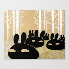 Suspicious Bunnies Canvas Print