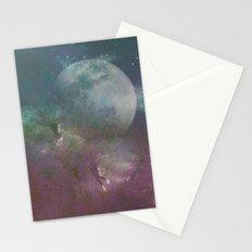 Sea,Moon Stationery Cards