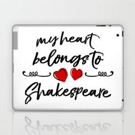 Heart Belongs to Shakespeare 1 Laptop & iPad Skin