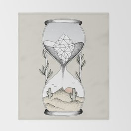 Time Is Running Out Throw Blanket