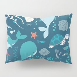 Sea creatures 004 Pillow Sham