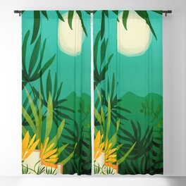 Exotic Garden Nightscape / Tropical Night Series #2 Blackout Curtain