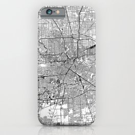 Houston White Map iPhone Case