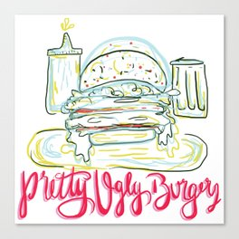Pretty Ugly Burgers Canvas Print