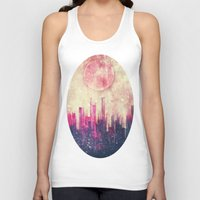 city Tank Tops featuring Mysterious city by SensualPatterns
