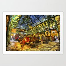 Covent Garden Van Gogh Art Print