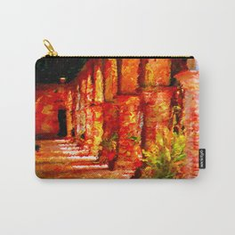 Mission San Juan Capistrano California Abstract Carry-All Pouch