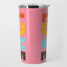 happy LOVE - typography Travel Mug