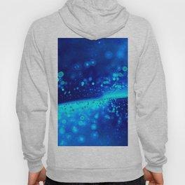 Blue Glitter Wave Hoody
