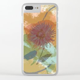 Autumnal Brushstrokes, Abstract Floral Art Clear iPhone Case