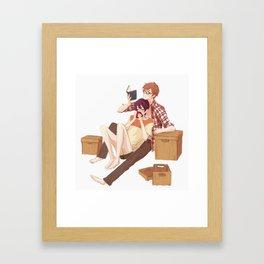 Together in Tokyo Framed Art Print
