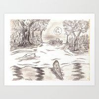 Solitare River Art Print