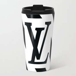 LV White Travel Mug