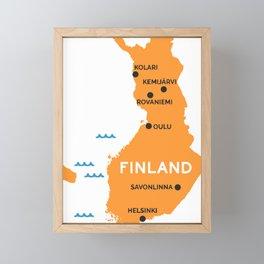 Finland Map Framed Mini Art Print