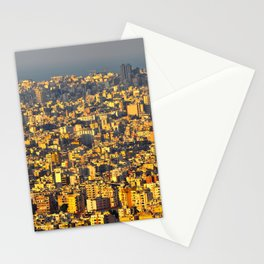 Beirut sunset Stationery Cards