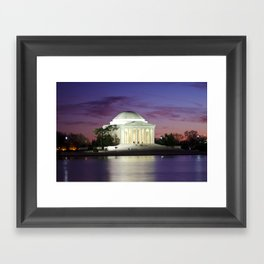 Jefferson Sunset Framed Art Print
